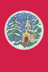 Heritage Crafts Kits HCK1151R Red Christmas Cards Church Set Of Three