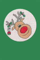 Heritage Crafts Kits HCK1155 Green Christmas Cards Reindeer Set Of Three