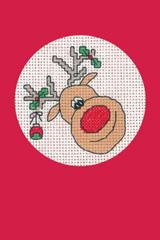 Heritage Crafts Kits HCK1155R Red Christmas Cards Reindeer Set Of Three