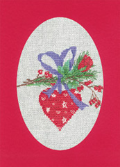 Heritage Crafts Kits HCK1160R Red Christmas Cards Heart Set Of Three