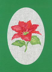 Heritage Crafts Kits HCK1164 Green Christmas Cards Poinsettia Set Of Three