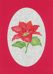 Heritage Crafts Kits HCK1164R Red Christmas Cards Poinsettia Set Of Three