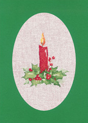 Heritage Crafts Kits HCK1165 Green Christmas Cards Candle Set Of Three