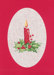 Heritage Crafts Kits HCK1165R Red Christmas Cards Candle Set Of Three