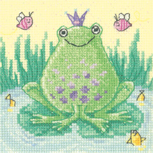 Heritage Crafts Kits HCK1186 Karen Carter ~ Cross Stitch Critters ~ Frog ~ 14 Count Aida