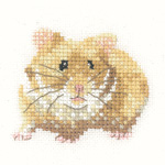 Heritage Crafts Kits HCK1189A Valerie Pfeiffer ~ Little Friends ~ Hamster ~ 14 Count Aida