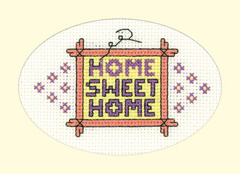 Heritage Crafts Kits HCK1207 Greeting Cards By Michaela ~ Home Sweet Home 3 Pack ~ 14 Count Aida