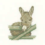 Heritage Crafts Kits HCK1209 Valerie Pfeiffer ~ Little Friends ~ Donkey ~ 28 Count Evenweave