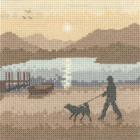 Heritage Crafts Kits HCK1230 Phil Smith ~ Silhouettes ~ Sunset Stroll ~ 27 Count Evenweave