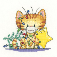Heritage Crafts Kits HCK1234 Peter Underhill ~ Cats Rule ~ Christmas Tangle ~ 27 Count Evenweave
