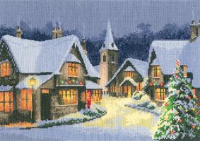 Heritage Crafts Kits HCK1244 John Clayton ~ Christmas Village ~ 27 Count Evenweave