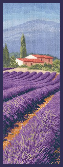 Heritage Crafts Kits HCK1247 John Clayton ~ Internationals ~ Lavender Fields ~ 27 Count Evenweave