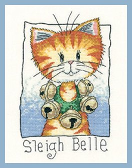 Heritage Crafts Kits HCK1283A Peter Underhill ~ Cats Rule ~ Sleigh Bell ~ 14 Count Aida