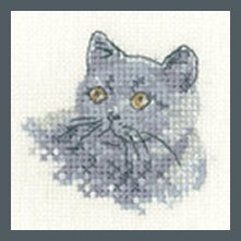 Heritage Crafts Kits HCK1284 Valerie Pfeiffer ~ Little Friends ~ British Blue ~ 27 Count Evenweave