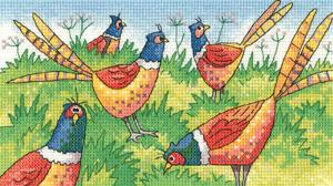 Heritage Crafts Kits HCK1300A Karen Carter ~ Birds Of A Feather ~ Fair Game ~ 14 Count Aida