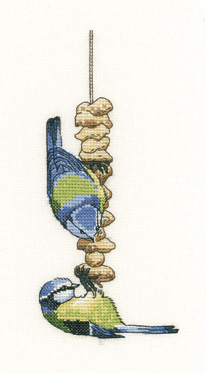 Heritage Crafts Kits HCK1307A Peter Underhill ~ Blue Tits ~ Little Darlings ~ 14 Count Aida
