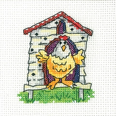 Heritage Crafts Kits HCK1344 Karen Carter ~ Simply Heritage ~ Hen House ~ 14 Count Aida