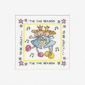 Heritage Crafts Kits HCK408 Karen Carter ~ Tis The Season ~ Cards (3 pack) ~  14 Count Aida