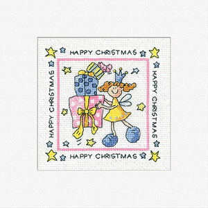 Heritage Crafts Kits HCK409 Karen Carter ~ Happy Christmas ~ Cards (3 pack) ~  14 Count Aida