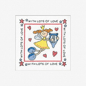 Heritage Crafts Kits HCK412 Karen Carter ~ Lots of Love ~ Cards (3 pack) ~  14 Count Aida