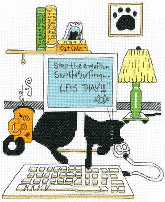 Imaginating Computer Cat