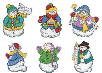 Imaginating Joyous Snowmen Ornaments