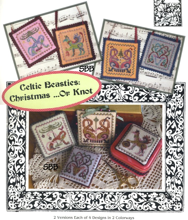 Ink Circles Celtic Beasties: Christmas... or Knot