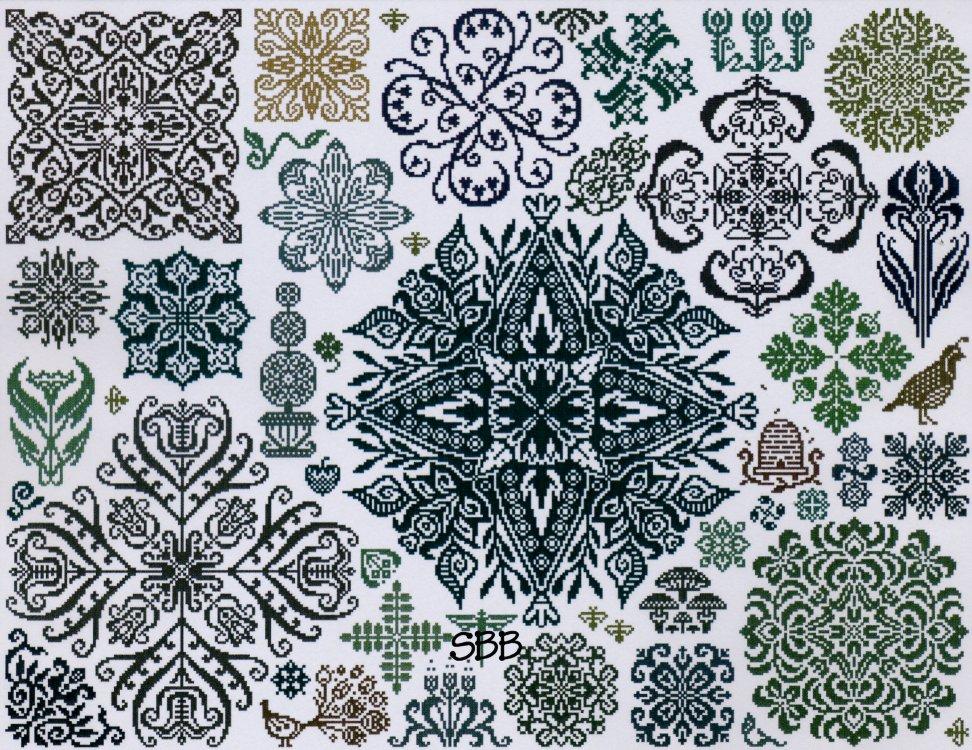 Ink Circles Garden Stars