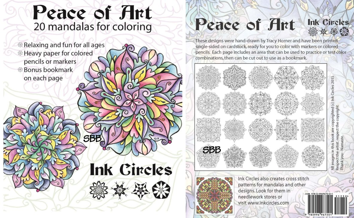 Ink Circles Peace Of Art Coloring Book