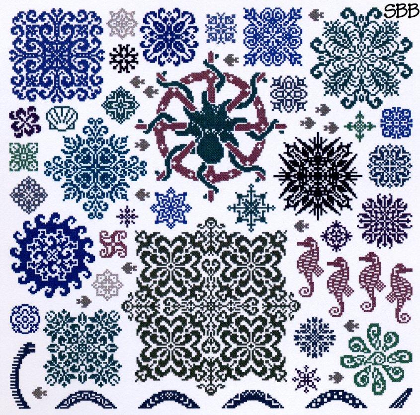 Ink Circles Sea Stars