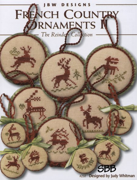 JBW Designs French Country ~ Ornaments II Reindeer Collection