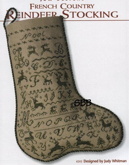 JBW Designs French Country ~ Reindeer Stocking