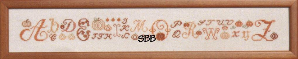 JBW Designs Stitch Alongs ~ The Great Pumpkin Alphabet