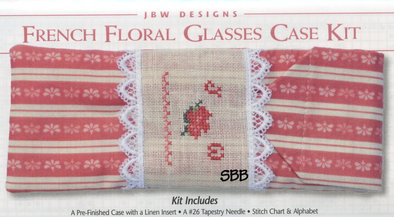 JBW Designs Limited Edition French Floral Glasses Case Kit