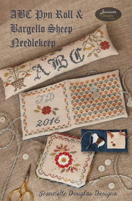 Clearance Jeannette Douglas Designs ABC Pyn Roll & Bargello SheepNeedlekeep Finishing Pack