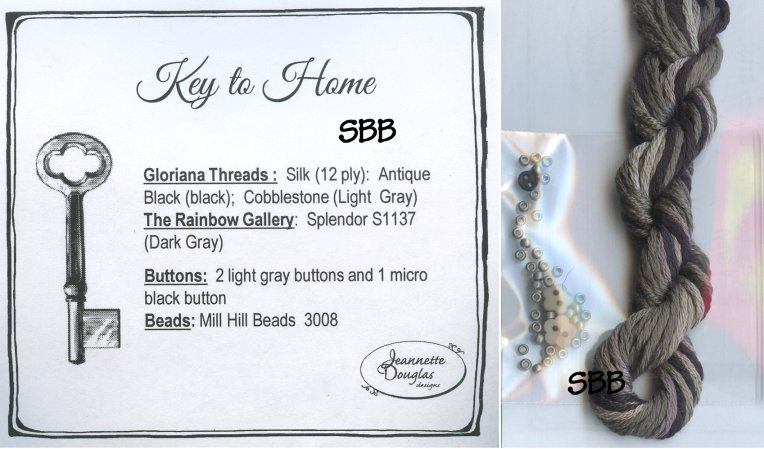 Clearance Jeannette Douglas Designs Key To Home Embellishment Pack