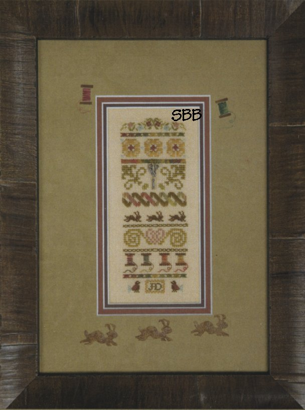 Clearance Jeannette Douglas Designs Mini Silver Needle Stitches with Embellishments & Silk