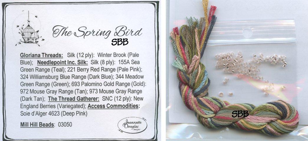 Clearance Jeannette Douglas Designs The Spring Bird Embellishment Pack
