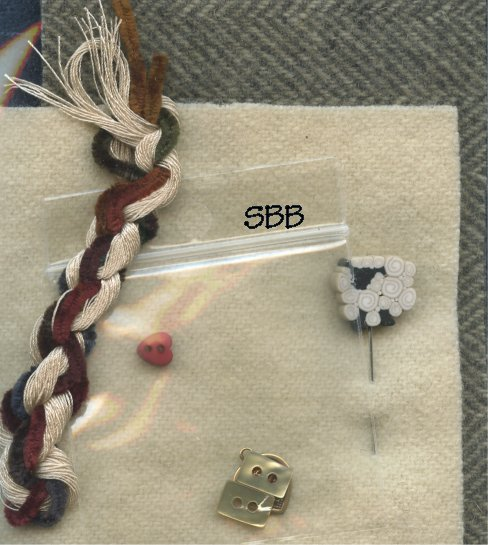 Jeannette Douglas Designs  ABC Pyn Roll & Bargello Sheep Needlekeep Wool Finishing Kit