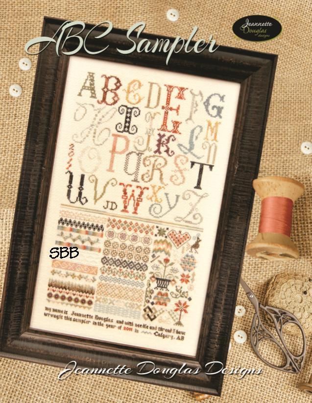 Jeannette Douglas Designs  ABC Sampler Leaflet
