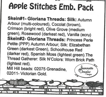 Jeannette Douglas Designs Apple Stitches