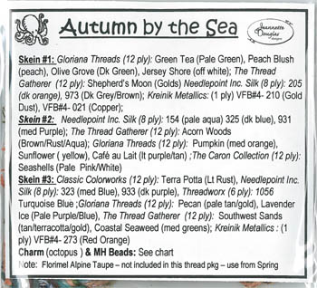 Jeannette Douglas Designs  Autumn By The Sea Embellishment Pack