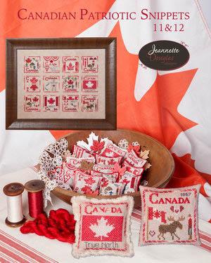 Jeannette Douglas Designs  Canadian Patriotic Snippets ~ 11 & 12
