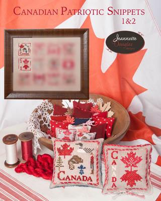 Jeannette Douglas Designs  Canadian Patriotic Snippets ~ 1 & 2