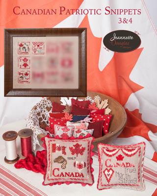Jeannette Douglas Designs  Canadian Patriotic Snippets ~ 3 & 4