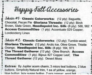 Jeannette Douglas Designs Happy Acorn Fall Accessories Embellishment Pack