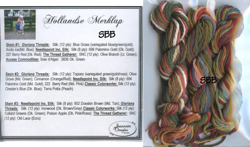Jeannette Douglas Designs Hollandse Merklap Embellishment Pack