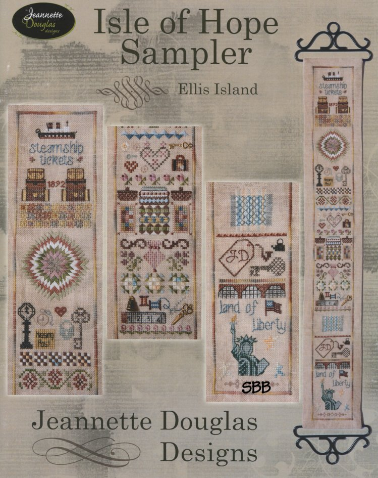 Jeannette Douglas Designs Isle Of Hope Ellis Island Sampler Leaflet