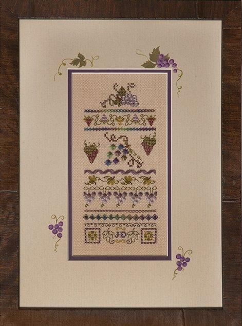 Jeannette Douglas Designs Mini Vintage Grape Stitches