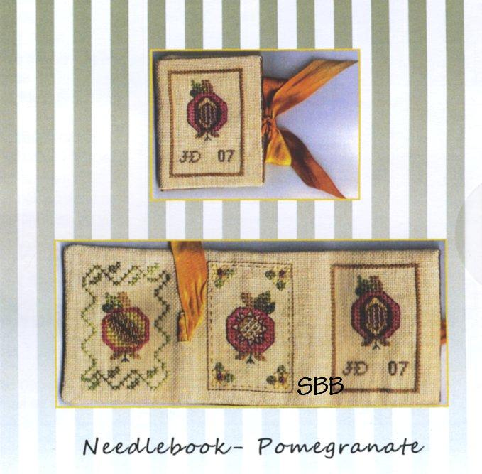 Jeannette Douglas Designs Needlebook Pomegranate
